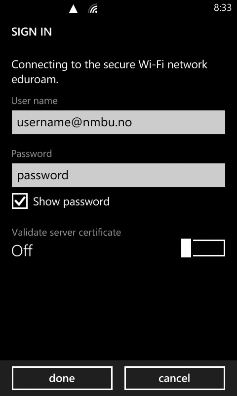 Eduroam.WindowsPhone.2